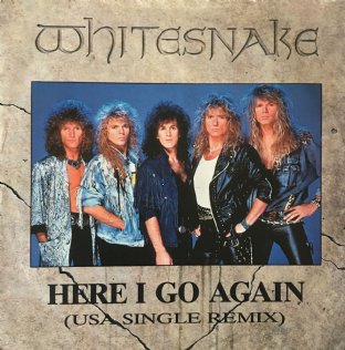 "Whitesnake ‎- Here I Go Again (USA Single Remix) (7"") (G-/VG-)"